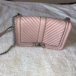 Pink Rebecca Minkoff quilted purse